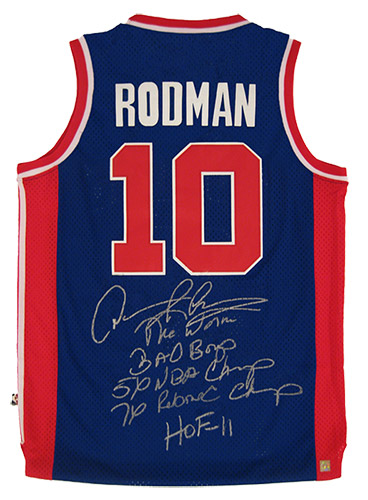 finest selection 1852b 826b9 Dennis Rodman Collection : Authentic Signings Inc