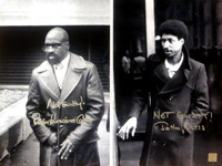 "Not Guilty! Rubin ""Hurricane"" Carter & Not Guilty! John Artis Autographed 16x20 Photo"