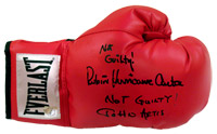 "Not Guilty! Rubin ""Hurricane"" Carter & Not Guilty! John Artis Autographed Everlast Boxing Glove"