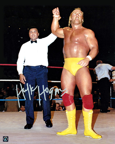 Hulk Hogan Autographed 16x20 Photo With Muhammad Ali