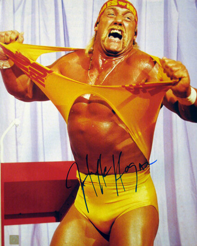"Hulk Hogan Autographed 16x20 Photo ""Hulkamania Running Wild"""