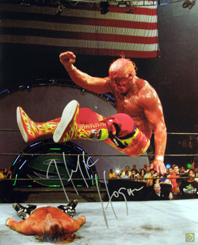 Hulk Hogan Autographed 16x20 Photo vs Shawn Michaels