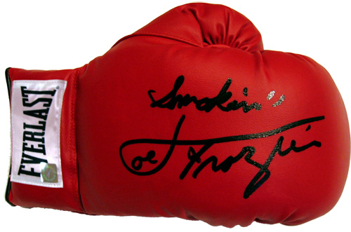 """Smokin"" Joe Frazier Autographed Everlast Boxing Glove"