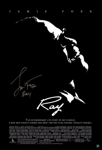 "Jamie Foxx ""Ray"" Autographed Ray Movie Poster"
