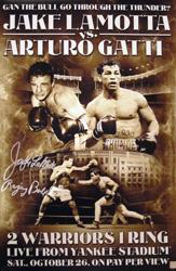 Jake LaMotta Raging Bull Signed 20x30 Boxing Poster vs Arturo Gatti