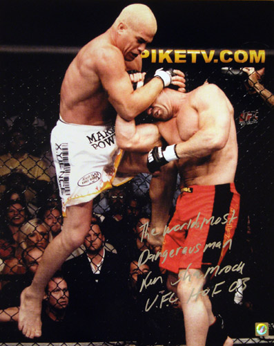 Ken Shamrock Signed 16x20 Photo vs Tito Ortiz