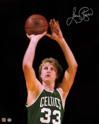 "Larry Bird Boston Celtics Autographed 16x20 ""Shooting"" Photo"