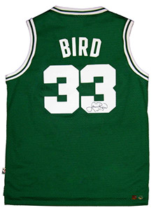 Larry Bird Autographed Official NBA Green Celtics Basketball Jersey