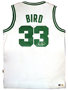 Larry Bird Autographed Official NBA White Celtics Basketball Jersey
