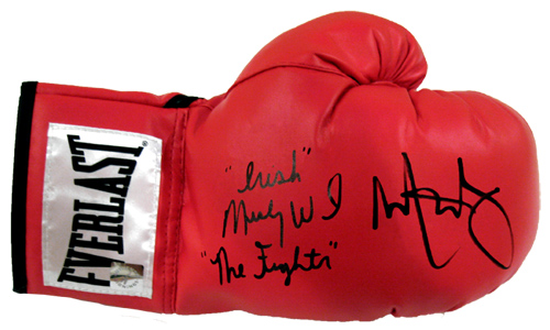 "Mark Wahlberg & ""Irish"" Micky Ward ""The Fighter"" Autographed Everlast Boxing Glove"