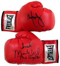 "Mark Wahlberg & ""Irish"" Micky Ward ""The Fighter"" Autographed Everlast Boxing Gloves"