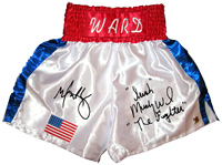 "Mark Wahlberg & ""Irish"" Micky Ward ""The Fighter"" Autographed Boxing Trunks"