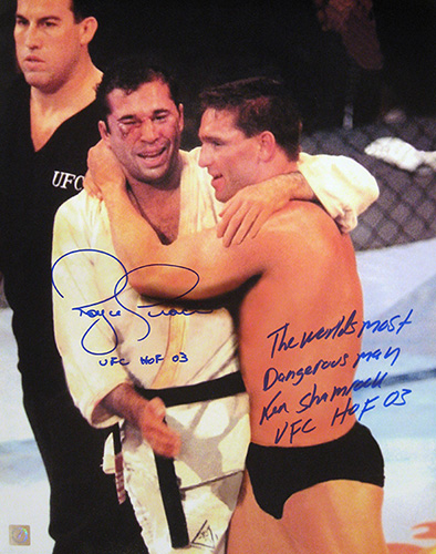 "Royce Gracie & Ken Shamrock Signed ""Celebration"" 16x20 Photo"