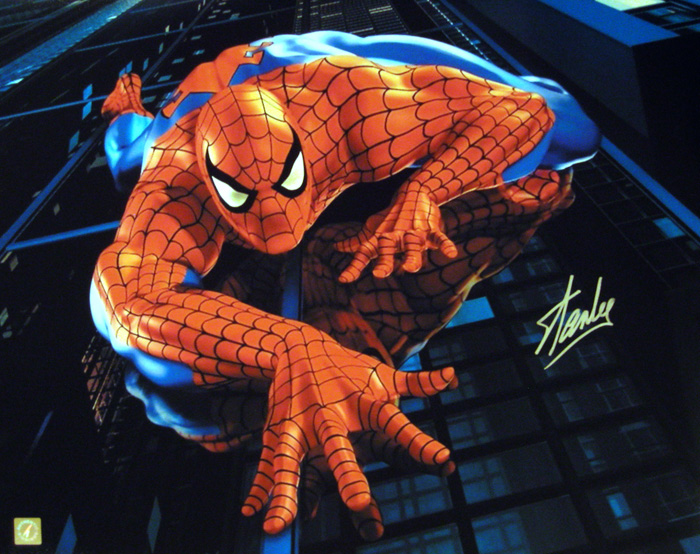 Stan Lee Autographed Spiderman 16x20 Photo