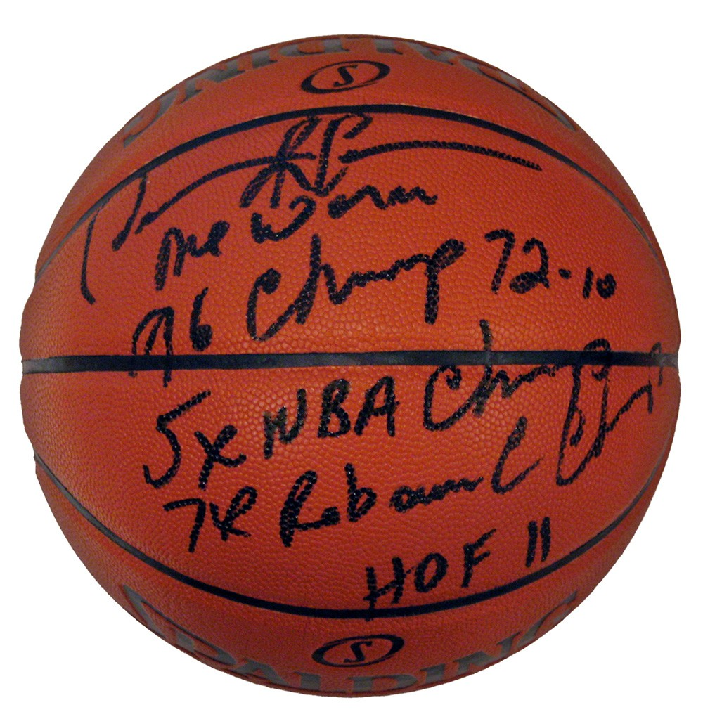 reputable site 441b7 a021a Dennis Rodman Autographed NBA Spalding Indoor/Outdoor Stat ...
