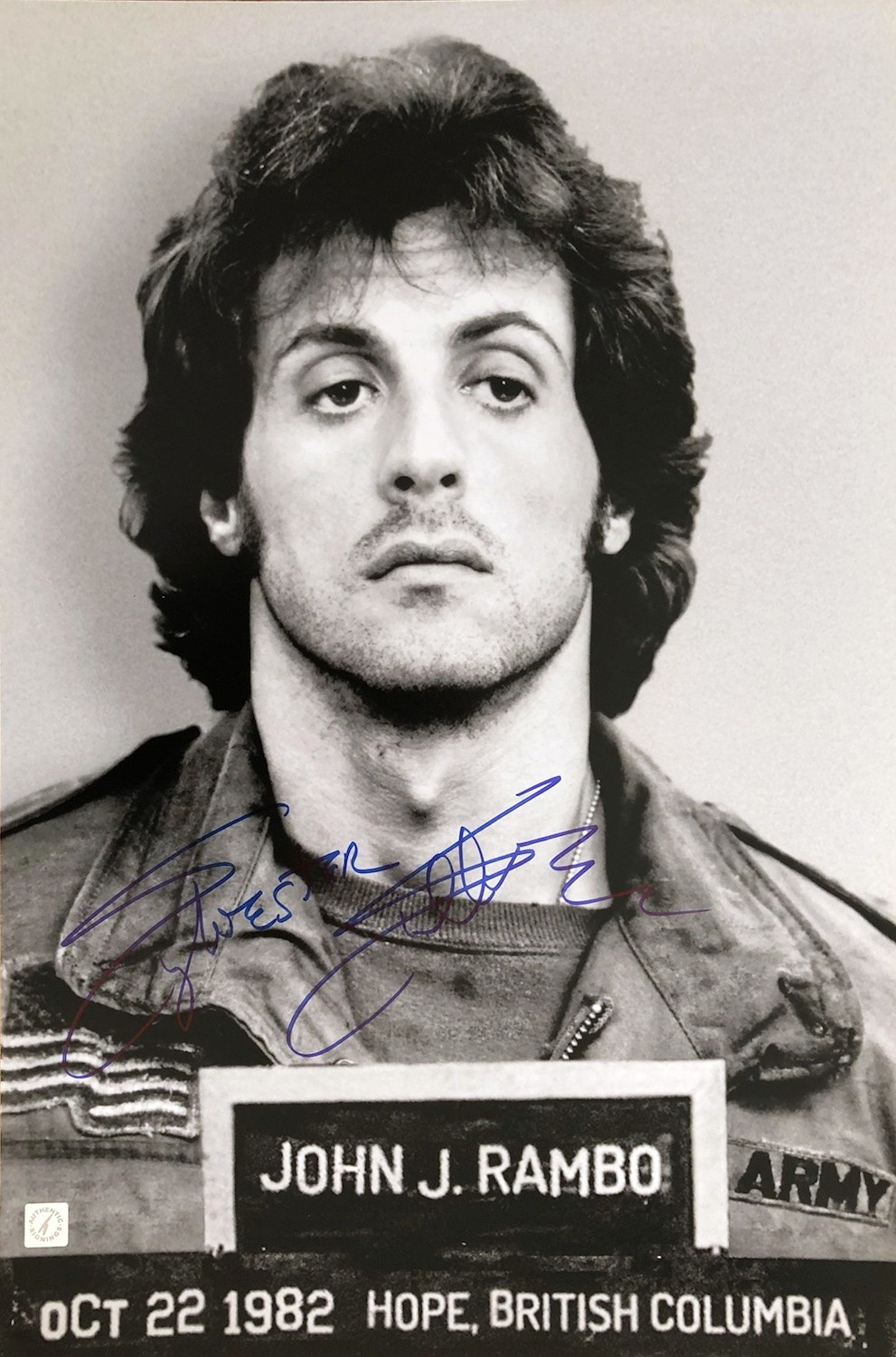 Sylvester Stallone Autographed FIRST BLOOD RAMBO