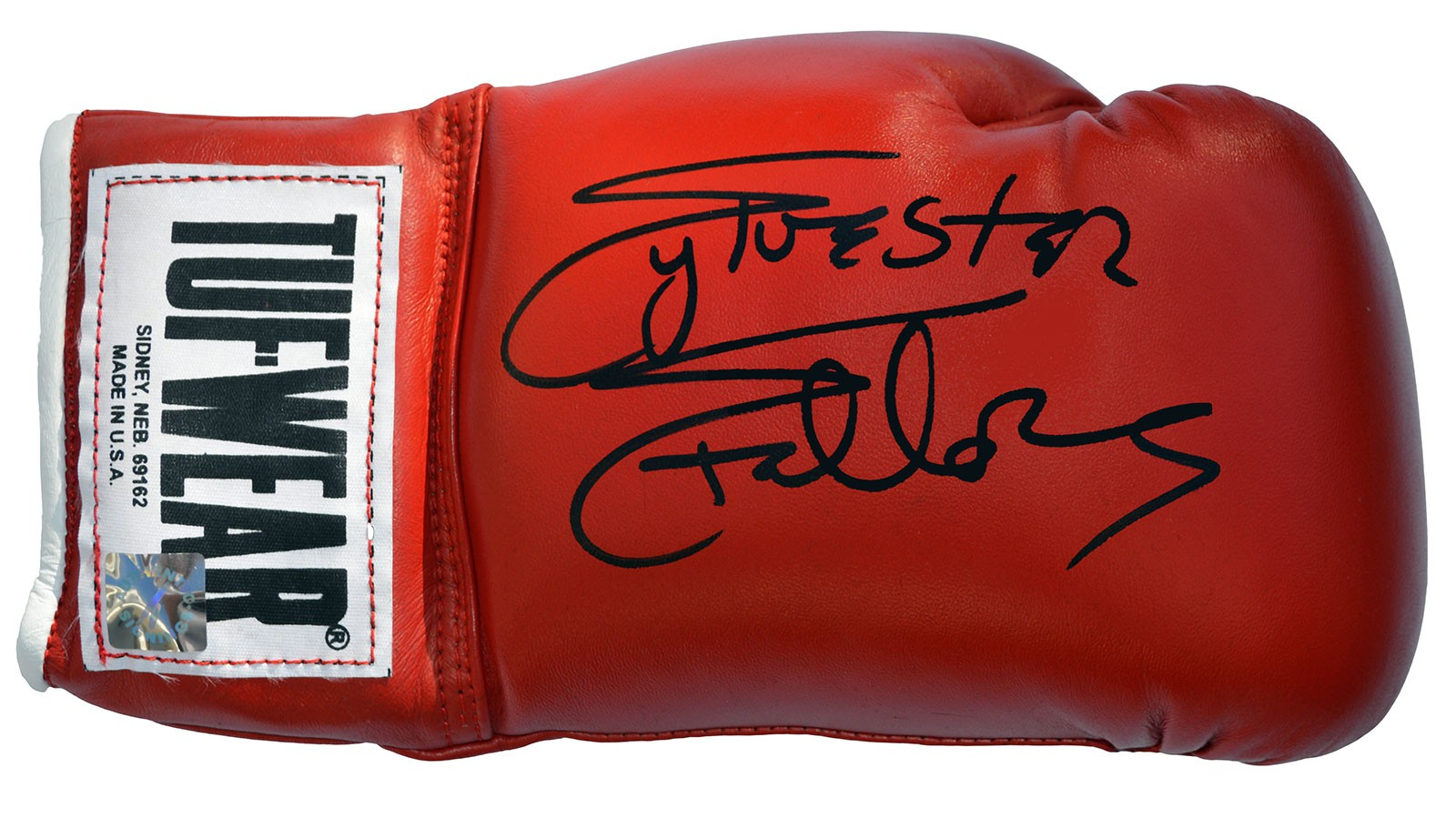 Sylvester Stallone Autographed Tuf Wear Red Boxing Glove