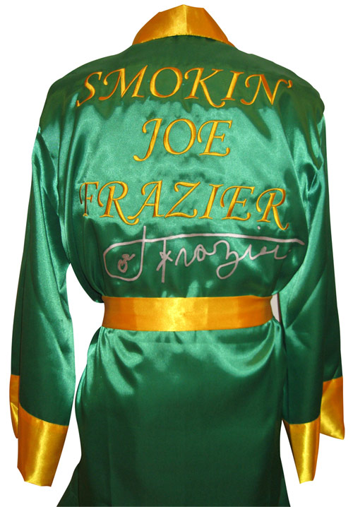 Joe Frazier Autographed Boxing Robe