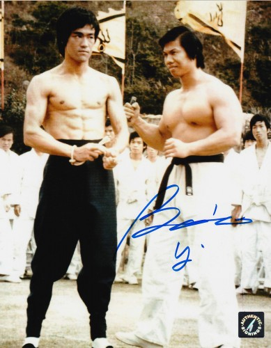 Bolo Yeung Autographed Enter The Dragon w/ Bruce Lee 8x10 Photo