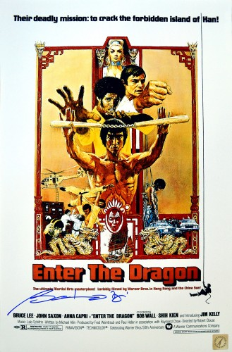 Bolo Yeung Autographed Bruce Lee Enter The Dragon 11x17 Movie Poster
