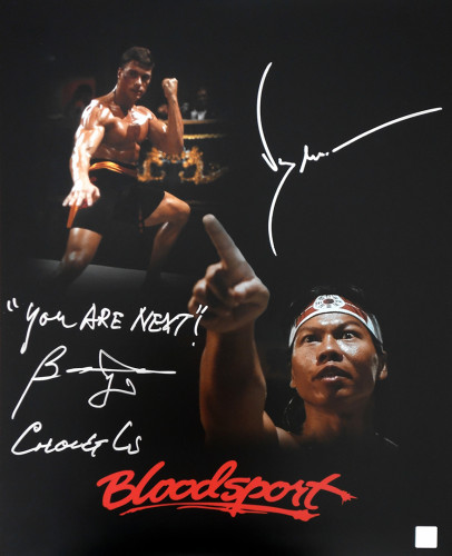 "Bolo Yeung ""Chong Li"" & Jean Claude Van Damme Autographed ""YOU ARE NEXT"" 16x20 Photo"