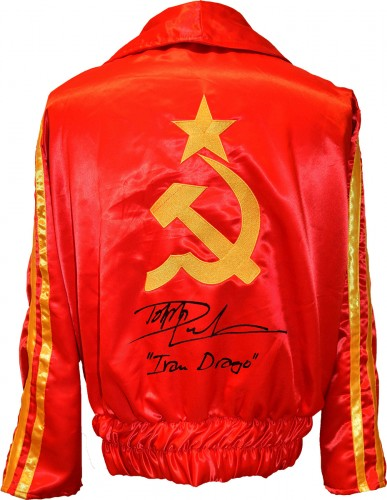 "Dolph Lundgren ""Ivan Drago"" Autographed Russian Boxing Jacket"