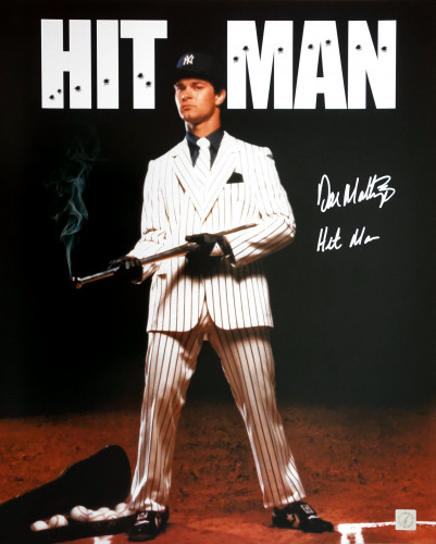 "Don Mattingly New York Yankees Autographed ""HIT MAN"" 16x20 Photo"
