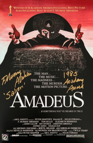 F Murray Abraham Autographed Amadeus 11x17 Movie Poster