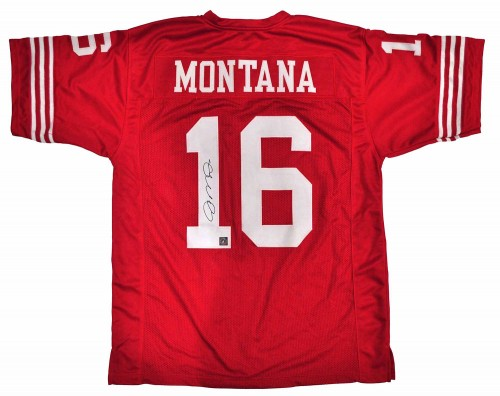 Joe Montana Autographed San Francisco 49ers Football Jersey