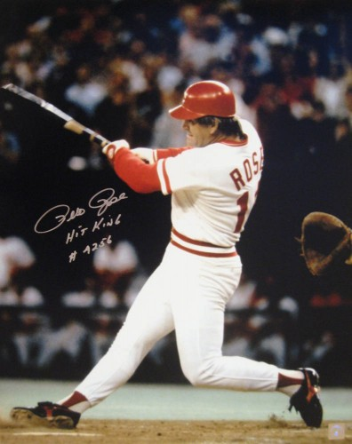 Pete Rose The Hit Autographed 16x20 Photo
