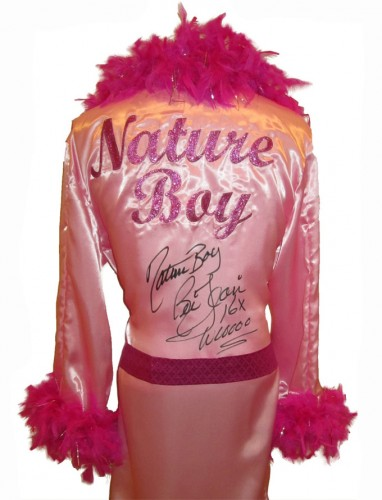 Ric Flair Autographed Pink Wrestling Robe