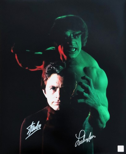 Lou Ferrigno & Stan Lee Autographed Incredible Hulk 16x20 Photo