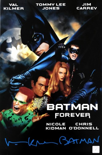 "Val Kilmer ""Batman"" Autographed Batman Returns 11x17 Movie Poster"