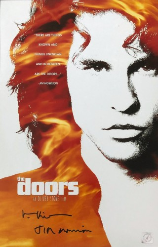 "Val Kilmer ""Jim Morrison"" Autographed Doors 11x17 Movie Poster"