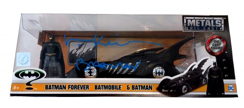 "Val Kilmer ""Batman"" Autographed 1:18 Scale Die cast Batmobile"