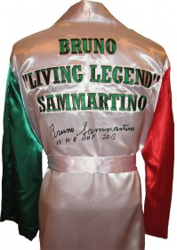 "Bruno Sammartino Autographed Italian Wrestling Robe With ""WWE HOF 13"" Inscription"