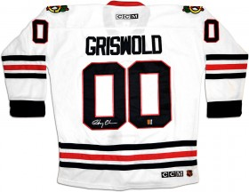 "Chevy Chase ""Clark Griswold\"" Autographed CCM Chicago Blackhawks Hockey Jersey"