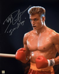 "Dolph Lundgren ""Ivan Drago"" Autographed ROCKY IV 16x20 Photo ""In The Corner"""
