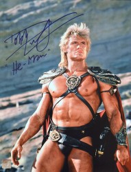 "Dolph Lundgren ""He-Man"" Autographed Masters Of The Universe 11x14 Photo ""Looking Up"""