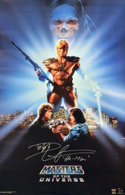 "Dolph Lundgren ""He-Man"" Autographed Masters Of The Universe 22x36 Movie Poster"