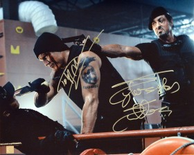 Sylvester Stallone & Dolph Lundgren Autographed Expendables 16x20 Photo