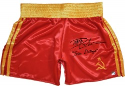 "Dolph Lundgren ""Ivan Drago"" Autographed Russian Boxing Trunks"