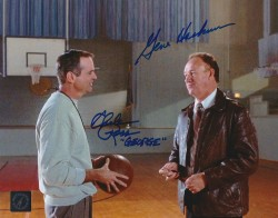 "Gene Hackman ""Coach Dale"" & Chelcie Ross ""George"" Autographed Hoosiers 8x10 Photo"