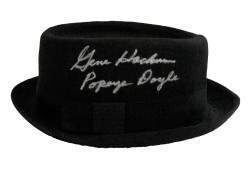 "Gene Hackman ""Popeye Doyle"" French Connection Autographed Porkpie Hat"