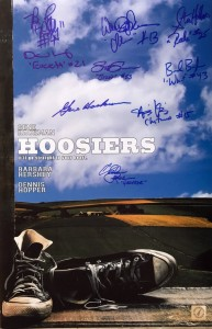 Gene Hackman & Hoosiers Cast Autographed Converse 11x17 Movie Poster