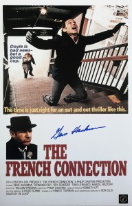 "Gene Hackman ""Popeye Doyle"" Autographed French Connection Shootout 11x17 Movie Poster"