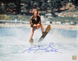 "Henry Winkler ""The Fonz"" Happy Days Autographed 11x14 Photo Jumping The Shark"