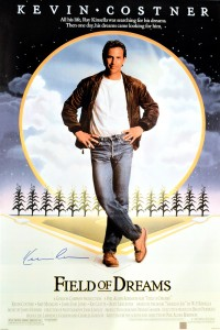 Kevin Costner Autographed Field of Dreams 24x36 Movie Poster