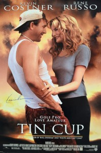 Kevin Costner Autographed Tin Cup 27x40 Movie Poster