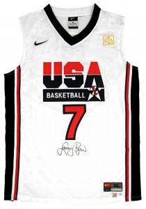 Larry Bird Autographed Official USA Olympic Dream Team Basketball Jersey